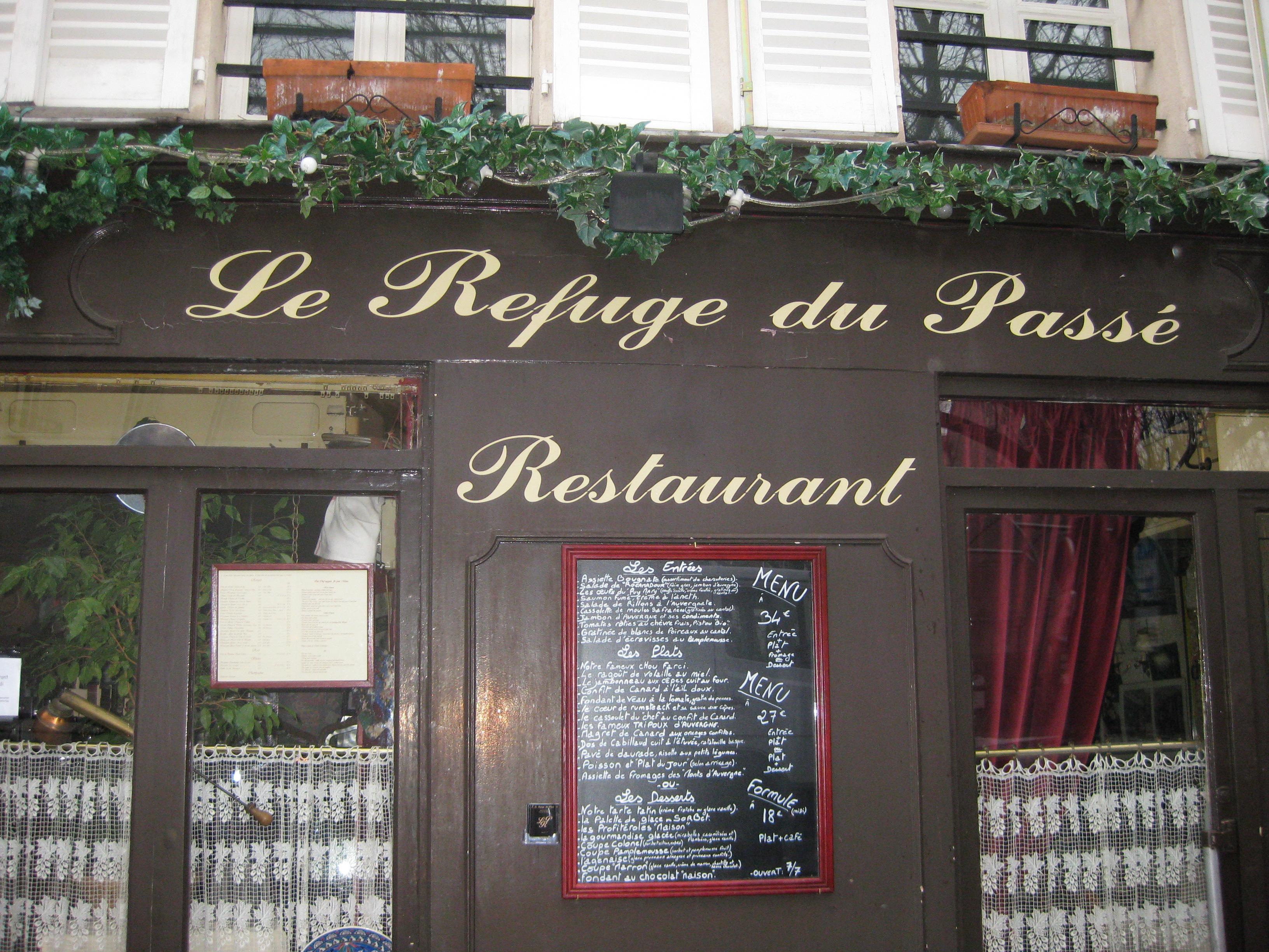I Prefer Paris: Restaurant Review: La Refuge de Passe