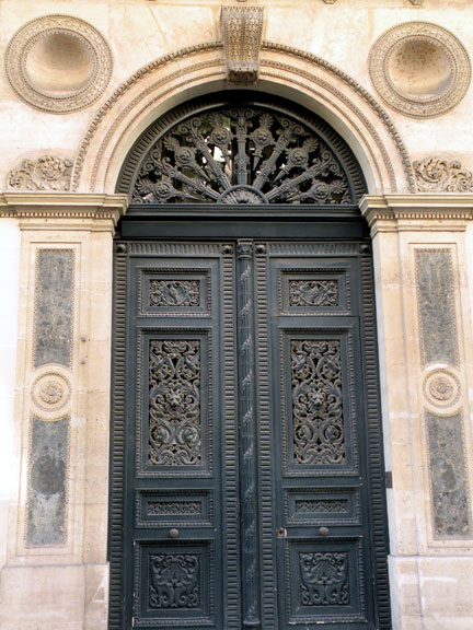 Today\u0027s door is a handsome royal blue wood with intricate iron work. I also like the pink marble inverted spheres on each side and the sculpted stonework. & I Prefer Paris: Door of the Month: 25 rue Pasquier