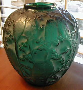 Perruches-vase-green