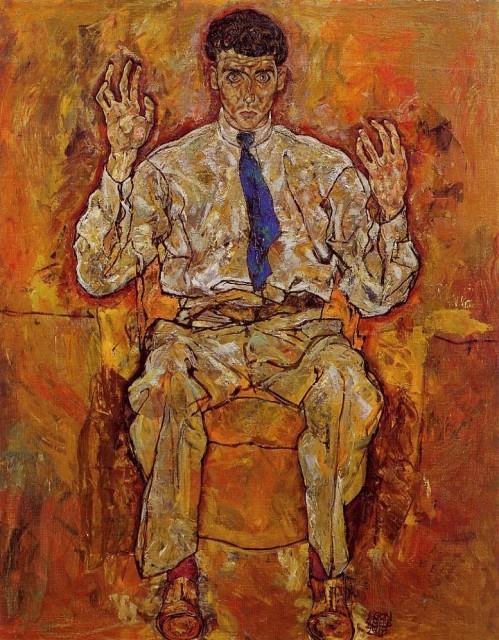 Egon Schiele - Portrait of Albert Paris von Gutersloh