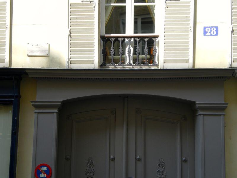 4. plaque above door