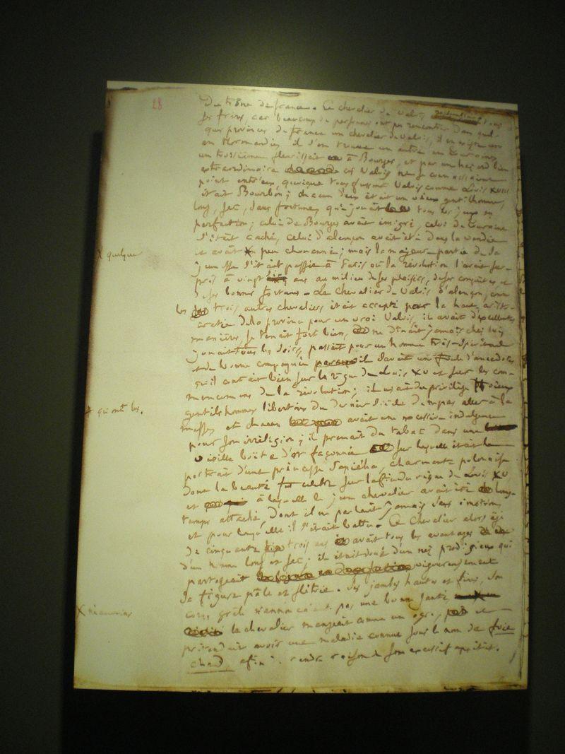 11.a Balzac handwritten page