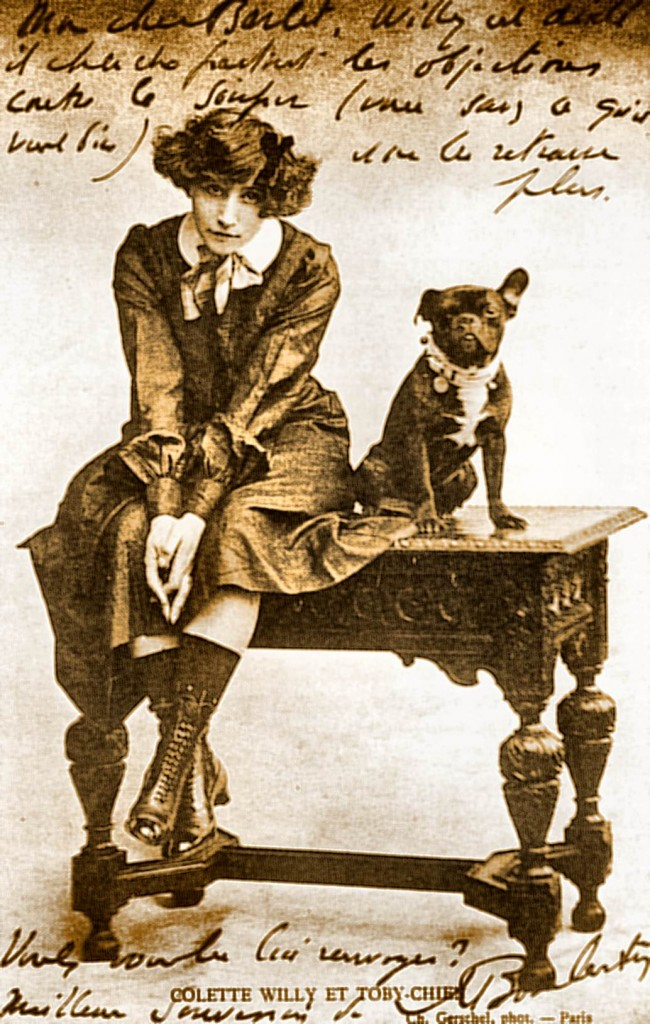 2. young Colette with dog