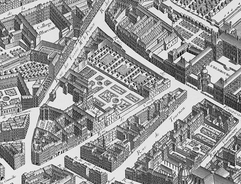 782px-Hôtel_de_Condé_on_1739_Turgot_map_of_Paris_-_KU_11